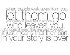 Sometimes you have to let go...  OH MY GOD---THIS SHOULD BE TAUGHT AT AND EARLY AGE-----