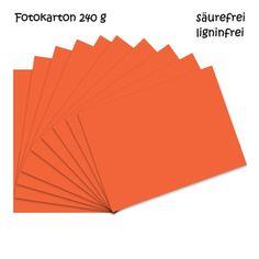 Fotokarton orange A4 - 10 Bogen - 240g