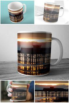 Photographic Art Mug Sunset Over Hastings Pier  #photographicart #muglife #hastingspier #hastingsphoto #prandski