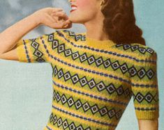 PDF Knitting pattern for a Fair Isle Jumper in by TheKnittingSheep