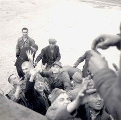Buchenwald, Germany, Survivors, 11/04/1945.