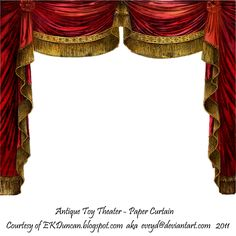 Paper Theater Curtain - Ruby by ~EveyD on deviantART