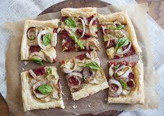 Tarta cu Brie, rosii uscate si anghinare - www.Foodstory.ro
