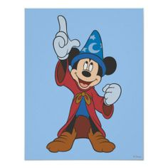 Sorcerer Mickey Mouse Print #mickeymouse