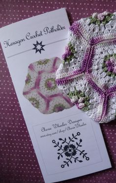 PDF Pattern Thread Crocheted Hexagon Potholder by CherieWheeler      I have two potholders my grandmother made over 50 years ago.