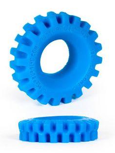 Burning Wheels 100% Silikon Cockring Blau - 25 mm (dehnbar) CK05
