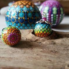 Cute tiny mandala earrings