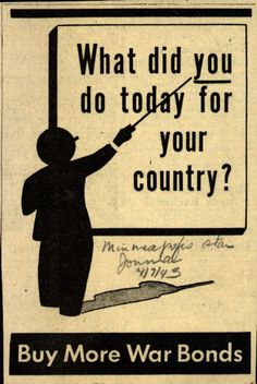 What did you do today for your country? (1943)