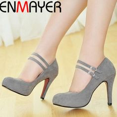 Cheap shoes running shoes, Buy Quality shoes taekwondo directly from China shoes adult Suppliers:                 ENMAYER New Round Toe Buckle Boots for Women Sexy Ankle Boots Heels Fashion Winter  Shoes Casual Zi