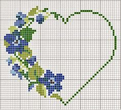 Ricami e schemi a Punto Croce gratuiti: S.Valentino a punto croce