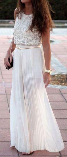 Lace & Ivory Maxi Skirt <3