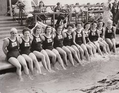 The British Women's Olympic swimming team, London, 1948
