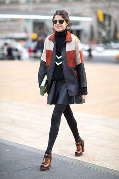 Leandra Street Style - Street Style Photos New York Fashion Week Fall 2014 - Harper's BAZAAR