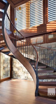 9 Fantastic Spiral Staircase Designs That Bring Your House Into Modern Look # Decoration staircase design 9 Fantastic Spiral Staircase Designs That Bring Your House Into Modern Look - Talkdecor Staircase Design Modern, Spiral Stairs Design, Interior Staircase, Curved Staircase, Railing Design, House Architecture Styles, Stairs Architecture, Stair Handrail, Railings