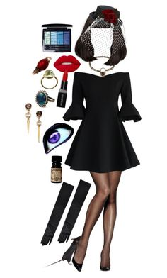 """Halloween: The Grand High Witch"" by pixymae ❤ liked on Polyvore featuring Hanes, Chicwish, Alexis Bittar, Alex and Chloe, Lime Crime, Smashbox, Christian Dior, Gucci, Halloween and Costume"
