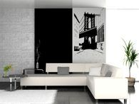 """Make a stament with one of Americas greatest landmarks. Our Large Brooklyn bridge wall decal is one of our best sellers for a reason! It's simply amazing! FREE SHIPPING!!!! Size : 44"""" height x 29"""" wide."""