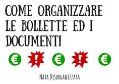come organizzare le bollette ed i documenti