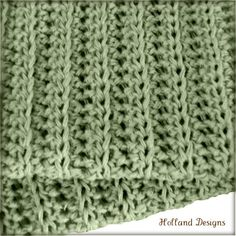 Simple Knit-Look Blanket