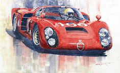 Yuriy Shevchuk (b.1961) —  Alfa Romeo Tipo 33 2 Targa Floria 1968,   2011  (900x552)