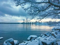 Raippaluoto Bridge, the longest bridge in Finland, Mustasaari, Finland by Christian Nylund Winter Beauty, Helsinki, All Over The World, Wonders Of The World, Travelling, Bridge, Landscapes, Christian, Places