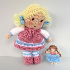 Dolly Rose and Holly Berry with tiny doll and teddy por dollytime