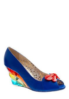 Poetic Licence Butterfly Love Wedge in Electric Blue, #ModCloth #PoeticLicence