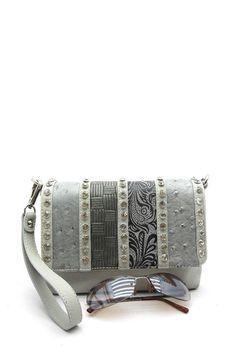 Handbagmadness - Silverake Rhinestone Messenger, $19.99…