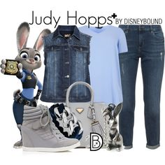 Judy Hopps + by leslieakay on Polyvore featuring aprico, Forever New, The Rubz, disney, disneybound and plussize