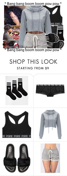 """""""Dont"""" by biapearl ❤ liked on Polyvore featuring adidas, Victoria's Secret, Poetic Justice, Puma and Mozambique"""