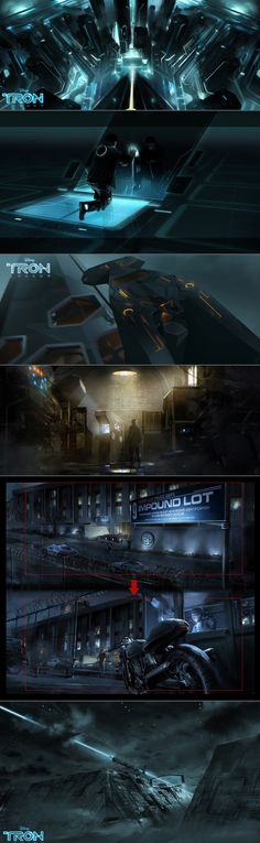TRON legacy concept - Digital Art - Vyle (David Levy), Rainart (Sebastien Larroude), and Barontieri (Thierry Doizon)
