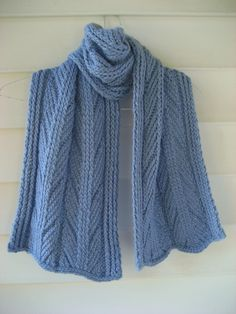 blue wool scarf, cable scarf, handknit wool, Warm woolen, alpaca wool scarf, light blue scarf, thick cable scarf by DutchDaisyDesign on Etsy #bluescarf #ancientstitchscarf #cablescarf