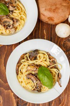 Portobello Mushroom Pasta with Cream Sauce 2