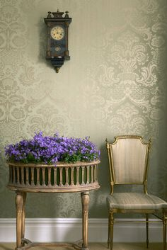 Carmen from the Mariinsky Damask Wallpaper collection