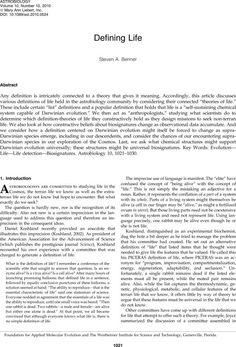 Defining Life. The most entertaining and interesting journal article I've read.