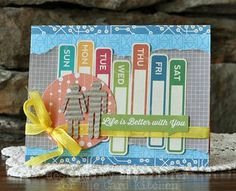 Life is better with You Card by Amy Sheffer for The Card Kitchen Kit Club using April 2014 Card Kitchen Kit via The Card Kitchen Blog