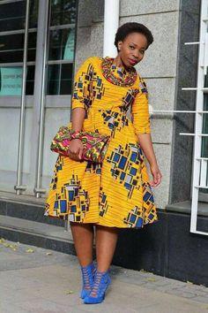 Keke African dress / African short dress / Ankara dress / African print dress for women, African dre African Party Dresses, African Dresses For Women, African Print Dresses, African Fashion Dresses, African Attire, African Wear, African Women, African Prints, Ghanaian Fashion