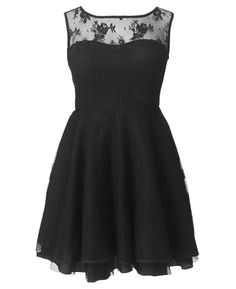AX Paris Lace Promenade Dress in Black - Size 8 to 28