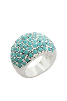 Argent Turquoise Arch Cocktail Ring
