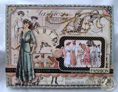 Elegant A Ladies' Diary card by @Nicole Eccles. Love how she used the chipboard piece! #graphic45
