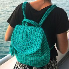 Mochila de Crochet hecho a mano 'Maja'mochila de crochet