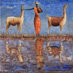 Michel RAUSCHER   Peintures - Huile sur toile - 40 x 40 cm - 2011