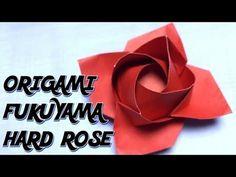Only one origami rose52 達人折りのバラの折り紙52 - YouTube