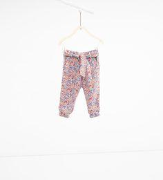ZARA - KIDS - Flowing floral trousers