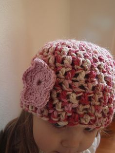 by Retro Mummy Pattern - Easy to make lovely hat for a Baby, Toddler or Child. Excellent for Beginners