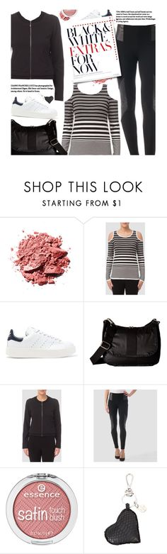 """""""Black and White Casual"""" by beebeely-look ❤ liked on Polyvore featuring Joseph Ribkoff, adidas Originals, LeSportsac, Elisabeth Weinstock, casual, blackandwhite, sporty, premiereavenue and JosephRibkoff"""