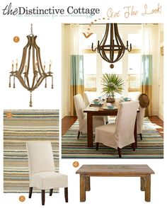 Beach House Style Dining Room | Get The Look