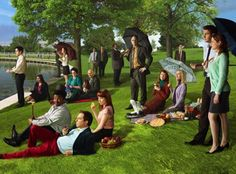 The Office as Seurat.  LOVE!!!  <3