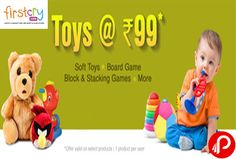 Firstcry offers Toys at Rs. 99. Soft Toys, Board Game, Block & Stacking Games & many more games. Valid till 29th Feb'16, applicable on Select Toys, Firstcry Coupon Code – FC99TOYS  http://www.paisebachaoindia.com/toys-at-rs-99-soft-toys-board-game-block-stacking-games-firstcry/