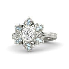 """""""Frozen"""" Inspired ring.  LOVE!"""