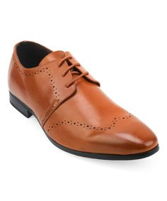 Another great find on #zulily! Tan Medallion Toe Oxford #zulilyfinds